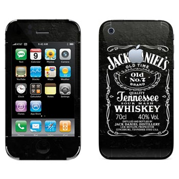 Виниловая наклейка «Jack Daniels» на телефон Apple iPhone 3G