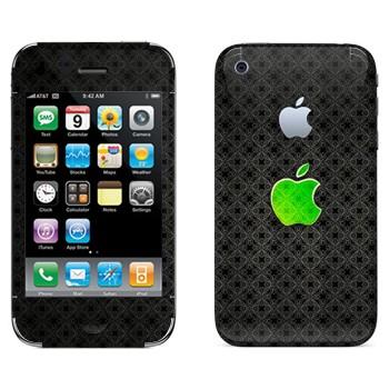 Виниловая наклейка «Лого Apple зеленое стекло» на телефон Apple iPhone 3G