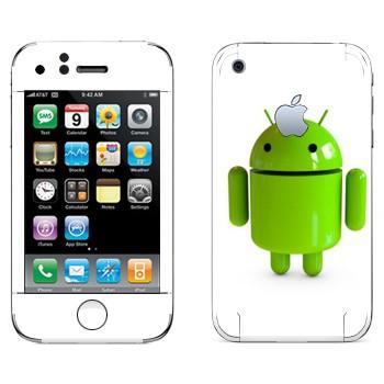 Виниловая наклейка «Логотип Android в 3D» на телефон Apple iPhone 3G