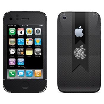 Виниловая наклейка «Логотип Apple алмазный» на телефон Apple iPhone 3G