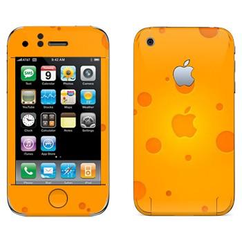 Виниловая наклейка «Логотип Apple сырный» на телефон Apple iPhone 3G