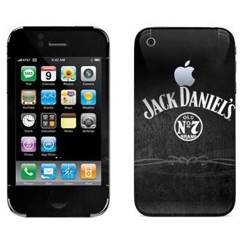 Виниловая наклейка «Виски  - Jack Daniels» на телефон Apple iPhone 3G