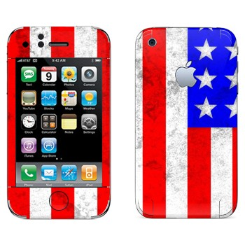 Виниловая наклейка «Флаг Америки» на телефон Apple iPhone 3G