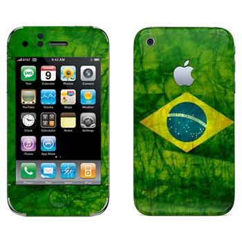 Виниловая наклейка «Флаг Бразилии» на телефон Apple iPhone 3G