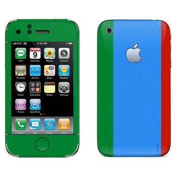 Виниловая наклейка «Флаг Дагестана вертикальный» на телефон Apple iPhone 3G
