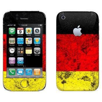 Виниловая наклейка «Флаг Германии» на телефон Apple iPhone 3G
