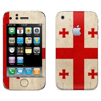 Виниловая наклейка «Флаг Грузии» на телефон Apple iPhone 3G