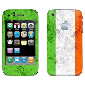 Виниловая наклейка «Флаг Ирландии» на телефон Apple iPhone 3G