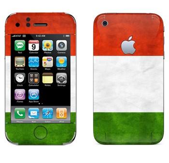 Виниловая наклейка «Флаг Италии горизонтальный» на телефон Apple iPhone 3G