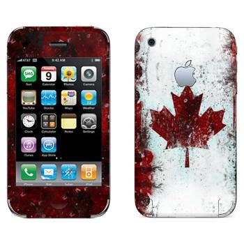 Виниловая наклейка «Флаг Канады» на телефон Apple iPhone 3G