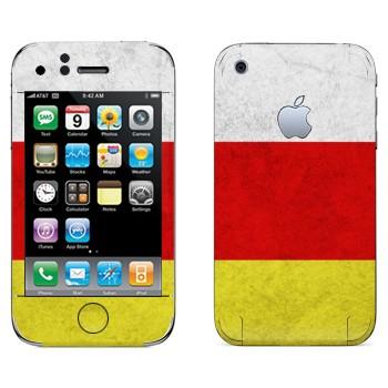 Виниловая наклейка «Флаг Осетии» на телефон Apple iPhone 3G