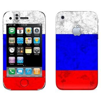 Виниловая наклейка «Флаг России» на телефон Apple iPhone 3G