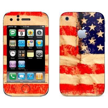 Виниловая наклейка «Флаг Соединенных Штатов Америки» на телефон Apple iPhone 3G