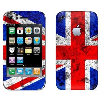 Виниловая наклейка «Флаг Великобритании с пятнами» на телефон Apple iPhone 3G