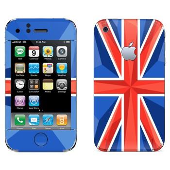 Виниловая наклейка «Флаг Великобритании» на телефон Apple iPhone 3G