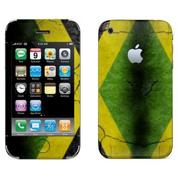 Виниловая наклейка «Флаг Ямайки на асфальте» на телефон Apple iPhone 3G