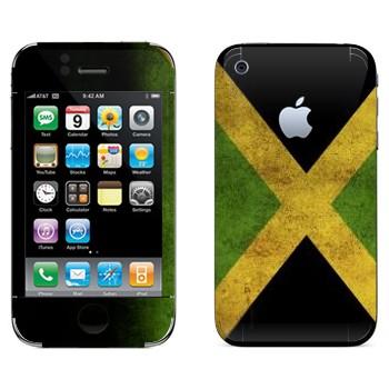 Виниловая наклейка «Флаг Ямайки» на телефон Apple iPhone 3G