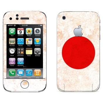 Виниловая наклейка «Флаг Японии» на телефон Apple iPhone 3G