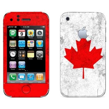 Виниловая наклейка «Канада флаг» на телефон Apple iPhone 3G