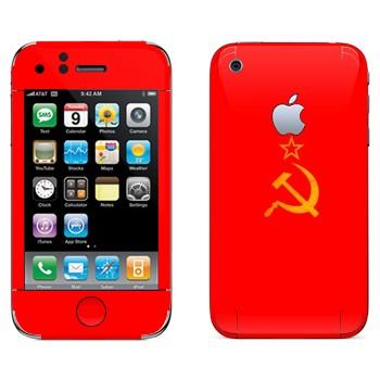 Виниловая наклейка «Серп и молот со звездой - СССР» на телефон Apple iPhone 3G