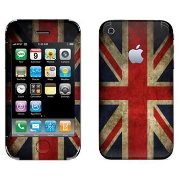 Виниловая наклейка «Флаг Великобритании застаренный» на телефон Apple iPhone 3G