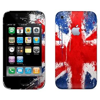 Виниловая наклейка «Флаг Великобритании краской» на телефон Apple iPhone 3G