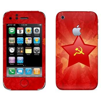 Виниловая наклейка «Звезда с серпом и молотом» на телефон Apple iPhone 3G