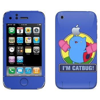 Виниловая наклейка «Catbug - Bravest Warriors» на телефон Apple iPhone 3G
