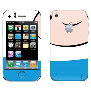 Виниловая наклейка «Finn the Human - Adventure Time» на телефон Apple iPhone 3G