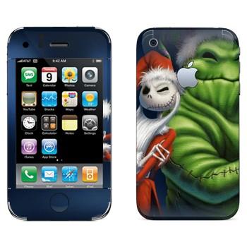 Виниловая наклейка «Джек и Бугимэн - Кошмар перед рождеством» на телефон Apple iPhone 3G