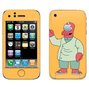 Виниловая наклейка «Доктор Джон Зойдберг» на телефон Apple iPhone 3G