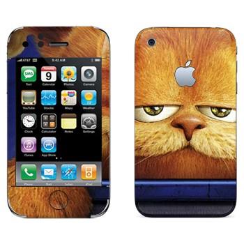 Виниловая наклейка «Гарфилд 3D» на телефон Apple iPhone 3G