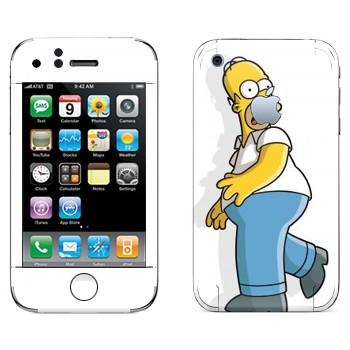 Виниловая наклейка «Гомер Симпсон испуган» на телефон Apple iPhone 3G