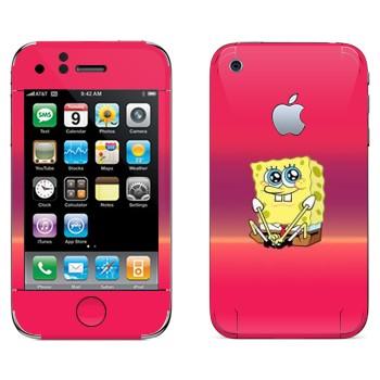 Виниловая наклейка «Губка Боб» на телефон Apple iPhone 3G
