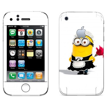 Виниловая наклейка «Миньон-домработница» на телефон Apple iPhone 3G