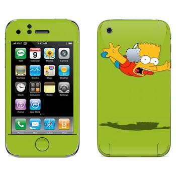 Виниловая наклейка «Падающий Барт Симпсон» на телефон Apple iPhone 3G