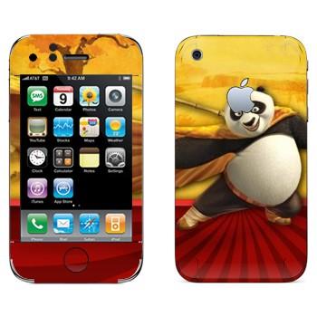 Виниловая наклейка «Панда По - Кунг-фу Панда» на телефон Apple iPhone 3G