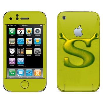 Виниловая наклейка «Шрек логотип» на телефон Apple iPhone 3G