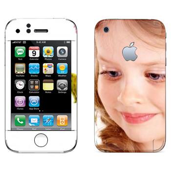 Виниловая наклейка «Девочка» на телефон Apple iPhone 3G