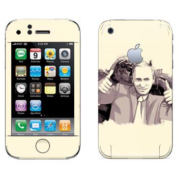 Виниловая наклейка «Путин -  Все OK» на телефон Apple iPhone 3G