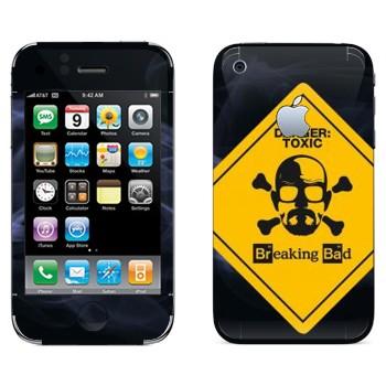 Виниловая наклейка «Danger: Toxic - Во все тяжкие» на телефон Apple iPhone 3GS