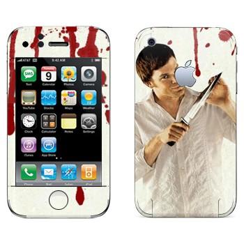 Виниловая наклейка «Dexter» на телефон Apple iPhone 3GS