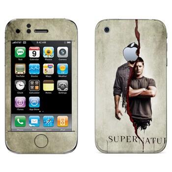 Виниловая наклейка «Братья Сэм и Дин Винчестеры» на телефон Apple iPhone 3GS
