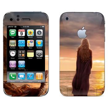 Виниловая наклейка «Дайнерис и закат - Игра престолов» на телефон Apple iPhone 3GS