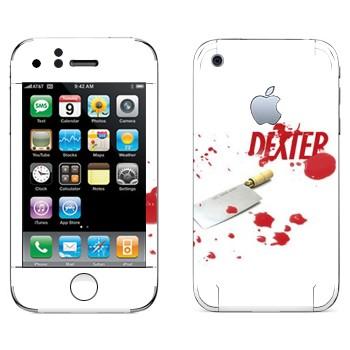 Виниловая наклейка «Декстер» на телефон Apple iPhone 3GS