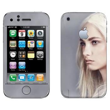 Виниловая наклейка «Девушка - Игра престолов» на телефон Apple iPhone 3GS