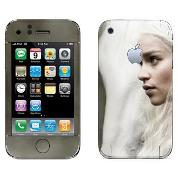 Виниловая наклейка «Дейнерис Таргариен - Игра престолов» на телефон Apple iPhone 3GS