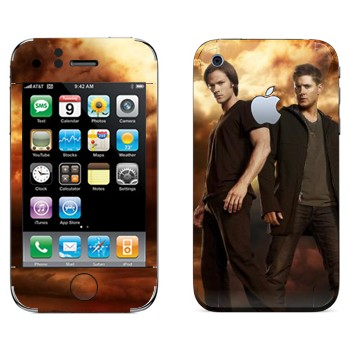 Виниловая наклейка «Дин и Сэм Винчестеры» на телефон Apple iPhone 3GS