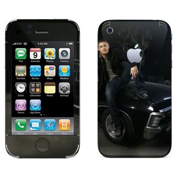 Виниловая наклейка «Дин Винчестер - Сверхъестественное» на телефон Apple iPhone 3GS