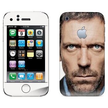 Виниловая наклейка «Доктор Хаус» на телефон Apple iPhone 3GS